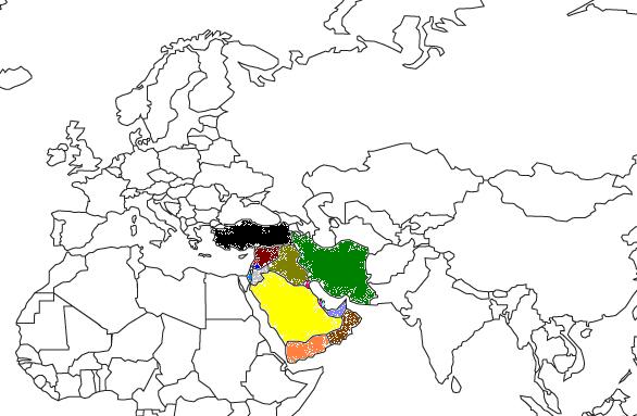 Regional Map for Southwest Asia and Middle East